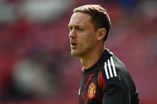 Manchester United's Serbian midfielder Nemanja Matic warms up ahead of the English Premier League football match between Manchester United and West Ham United at Old Trafford in Manchester, north west England, on August 13, 2017. / AFP PHOTO / Oli SCARFF / RESTRICTED TO EDITORIAL USE. No use with unauthorized audio, video, data, fixture lists, club/league logos or 'live' services. Online in-match use limited to 75 images, no video emulation. No use in betting, games or single club/league/player publications.  /